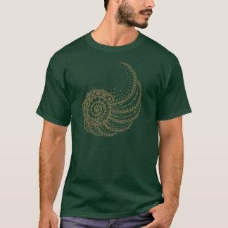 Organic spiral tan T-Shirt