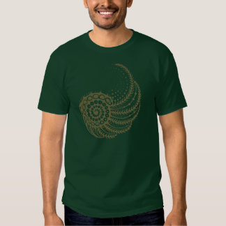 Organic spiral tan tee shirts