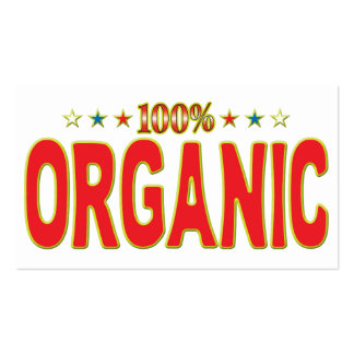 Organic Star Tag Pack Of Standard Business Cards