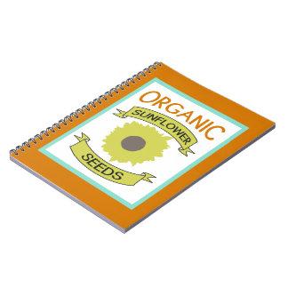 Organic Sunflower Seed Packet Notebook