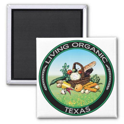 Organic Texas Fridge Magnets