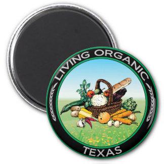 Organic Texas 6 Cm Round Magnet