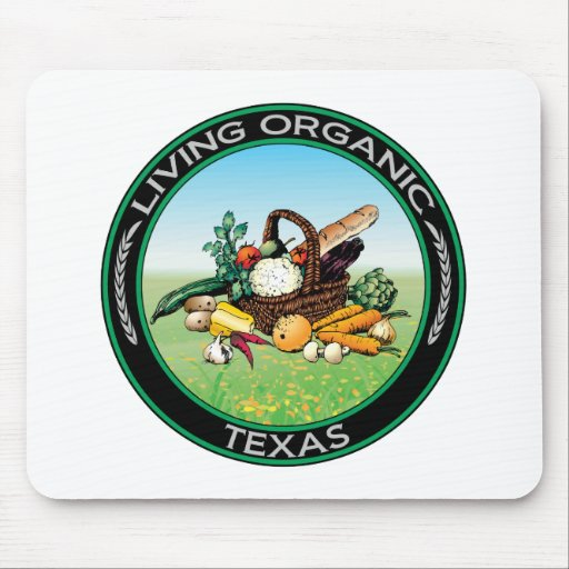 Organic Texas Mouse Pads