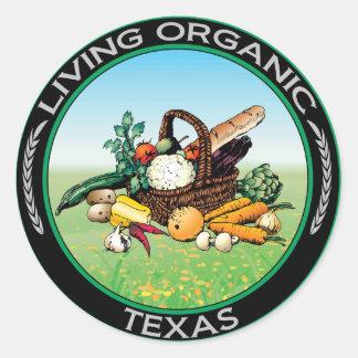Organic Texas Stickers