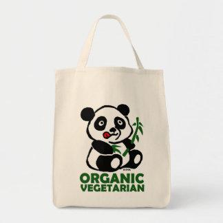 Organic vegetarian grocery tote bag