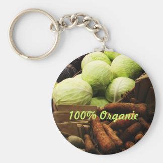 Organic Veggies keyring Basic Round Button Key Ring