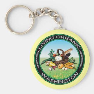 Organic Washington Key Ring