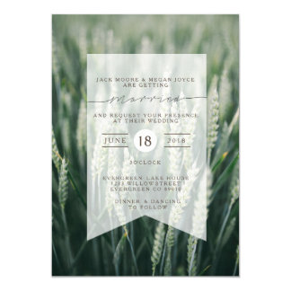 Organic Wheat | Wedding Invitation