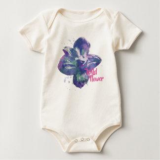 Organic Wild Flower Baby Bodysuit