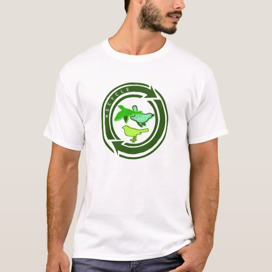 Organic Womens Recycle Birds T-Shirt