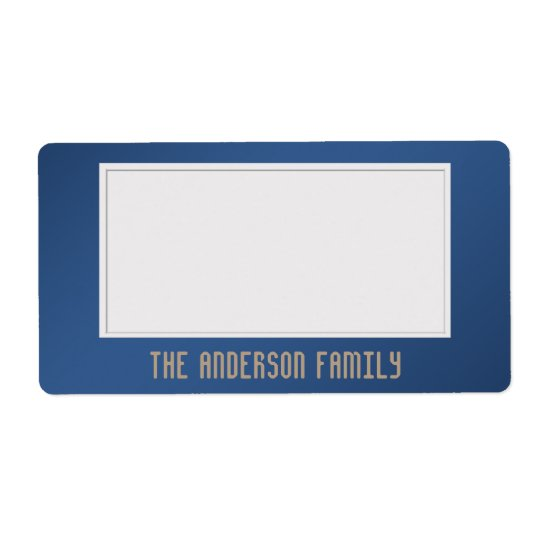 Organise Storage Sticky One Colour Blue Shipping Label