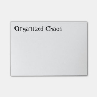 """Organised Chaos"" Post-it Notes"
