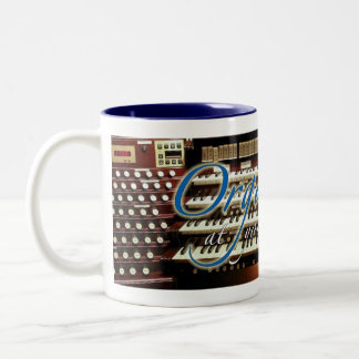Organist at your service mug - blue letters
