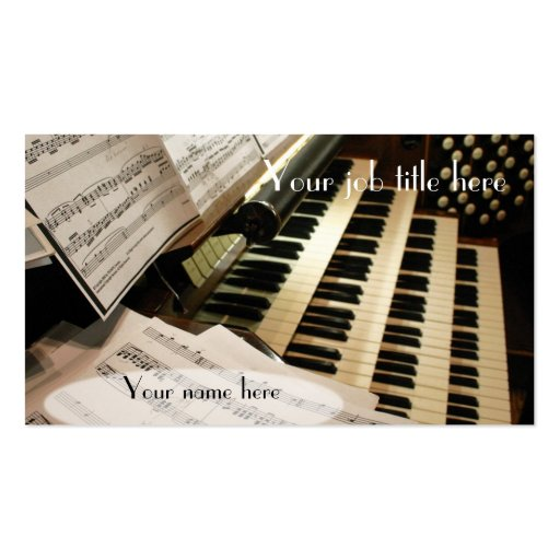Organist business cards
