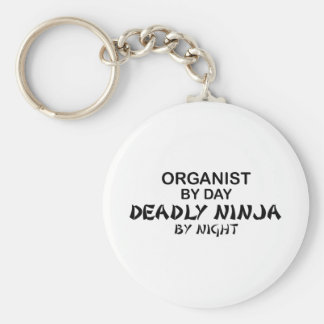 Organist Deadly Ninja by Night Basic Round Button Key Ring