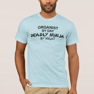 Organist Deadly Ninja by Night T-Shirt