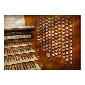 Organist - Ready at the controls 13 Cm X 18 Cm Invitation Card