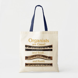 Organists are Great budget tote in natural and nav Tote Bag