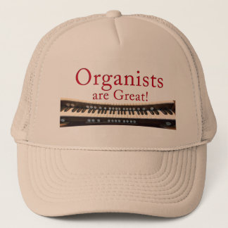 Organists are Great hat - beige colour
