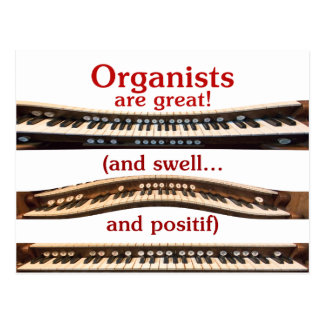 Organists are Great postcard