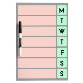 Organize Your Week - Dry Erase Board