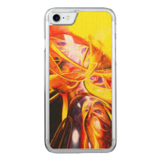 Organized Confusion Painted Abstract Carved iPhone 7 Case