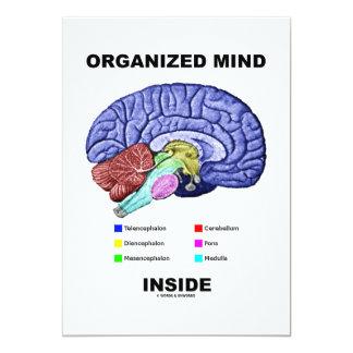 Organized Mind Inside (Anatomical Brain Attitude) 13 Cm X 18 Cm Invitation Card
