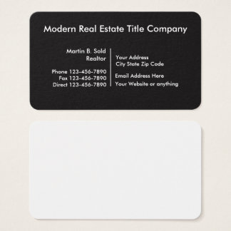 Organized Real Estate Title Company Business Card