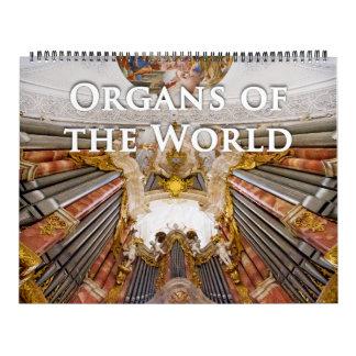 Organs of the World pipe organ calendar