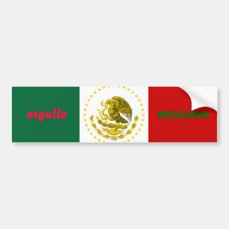 orgullo mexicano 2 bumper sticker car bumper sticker