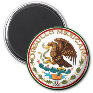 Orgullo Mexicano (Eagle from Mexican Flag) 6 Cm Round Magnet