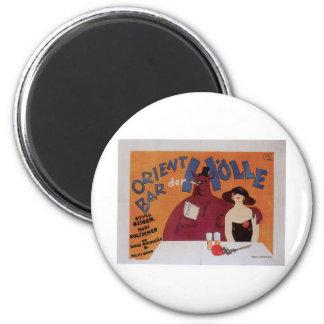 Orient Bar Vintage Food Ad Art 6 Cm Round Magnet