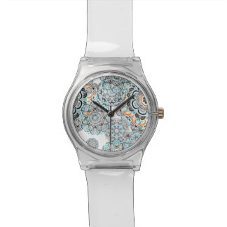 Orient Blue Mandala pattern | Indian motif Wrist Watches