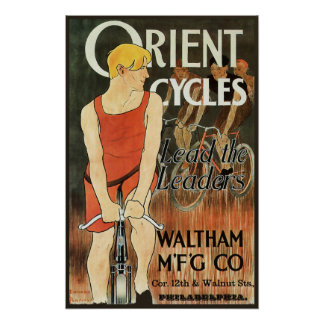 Orient Cycles Vintage Bicycle Advertisement Poster