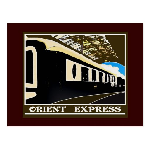 Orient Express classic railway postcard