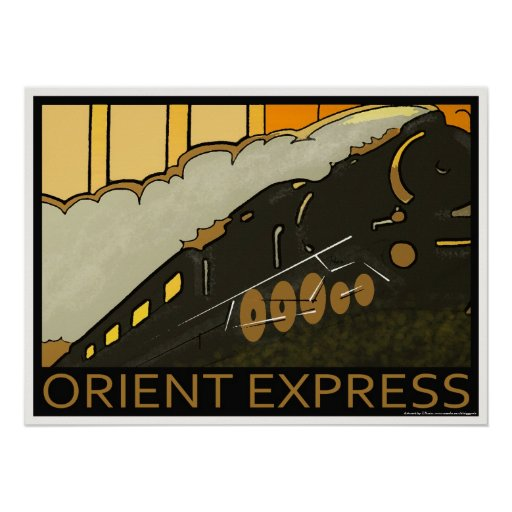 Orient Express railway classic poster print