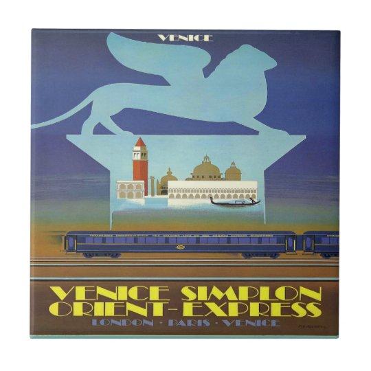 Orient Express Venice Poster Tile