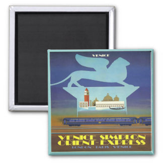 Orient Express Venice Square Magnet