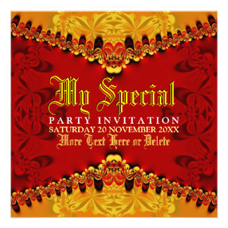 Orient Jungle Art Party Invitation