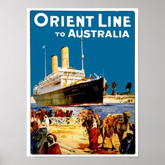 Orient Line to Australia Poster