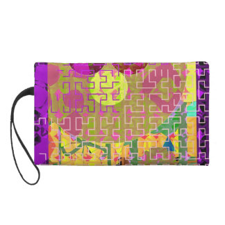 Oriental Abstract Wristlet