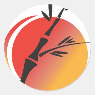 Oriental Art Classic Round Sticker