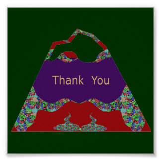 Oriental Arts Lips -  Thank You Poster