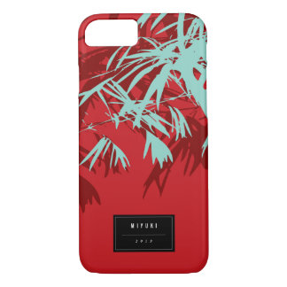 Oriental Asian Chinese Blue Bamboo Leaves Zen Case