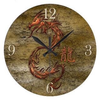 Oriental Asian Dragon Designer Timepiece Clocks