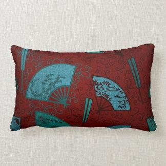 Oriental Asian Fans Lumbar Cushion