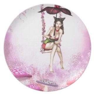 Oriental Beauty Plate