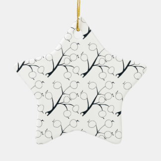 oriental berry black and white ceramic star decoration