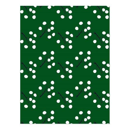 oriental berry green postcard