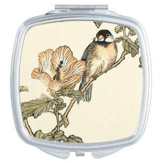 Oriental Bird Perched on Branch Makeup Mirrors